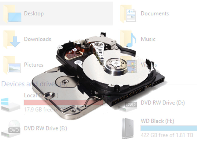 Data recovery from a formatted hard drive